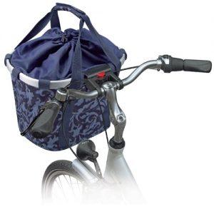 KLICKfix Damen Fahrradkorb Barock Navy